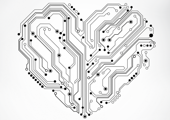 heart shaped with nodes