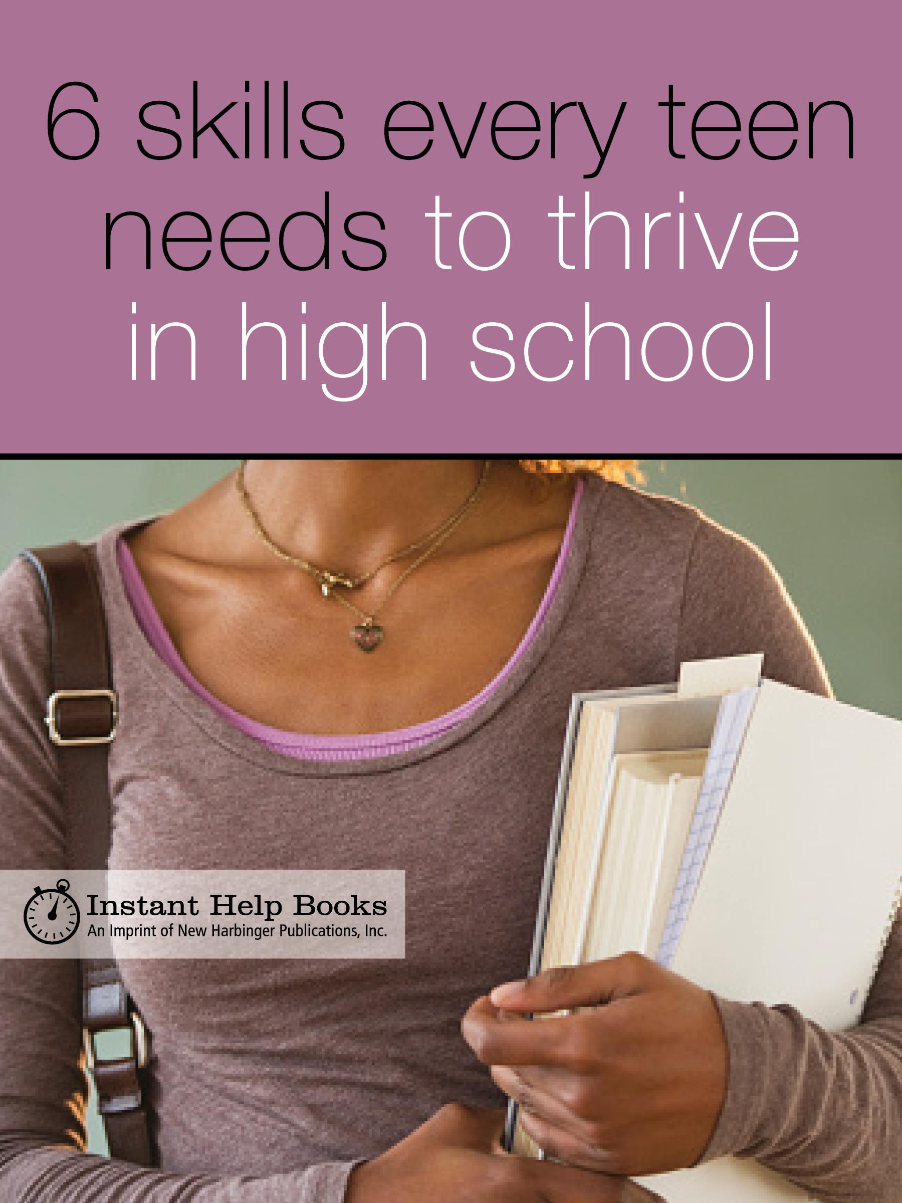 Teen girl holding school books