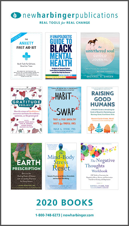 New Harbinger's 2020 catalog of titles