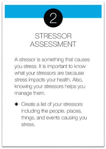 Stressor Assessment card