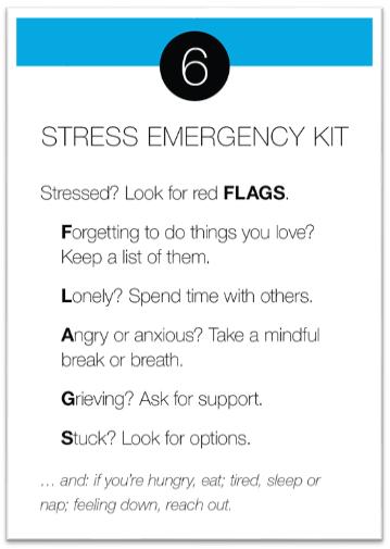 Stress Emergency Kit card