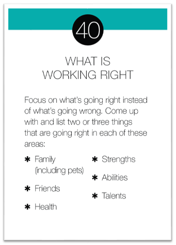 What is Working Right card