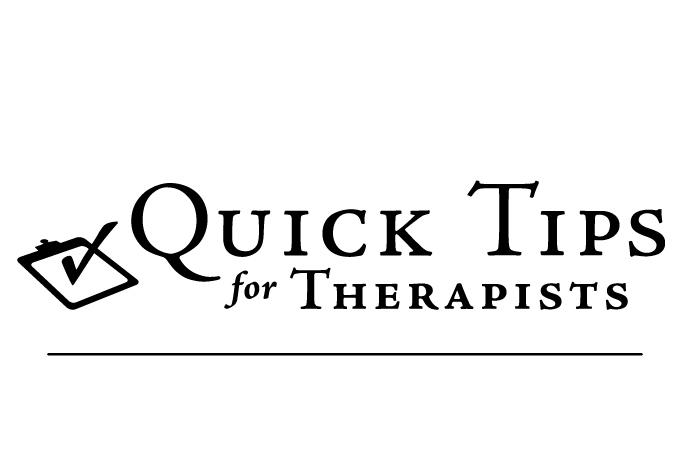 QuickTips for Therapists logo with clipboard