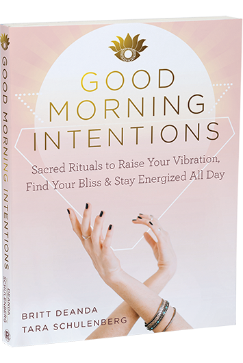 Good Morning Intentions cover with two lyrical posed hands